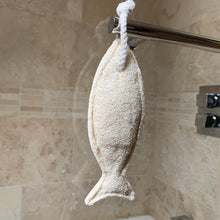 Load image into Gallery viewer, Loofah Fish  on a rope body scrub