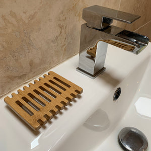 piano shape soap dish wood