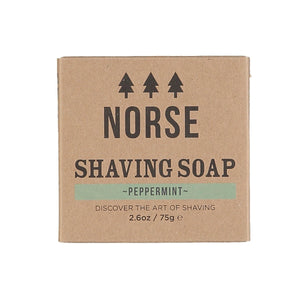 Norse shaving soap with peppermint