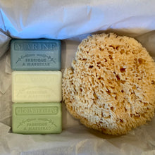 Load image into Gallery viewer, Luxury Natural Sponge and Soap Gift Set
