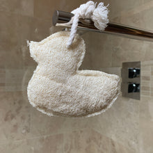 Load image into Gallery viewer, Loofah Duck  on a rope body scrub