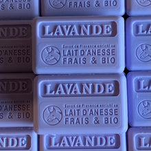 Load image into Gallery viewer, 100g Organic Lait D'Anesse Lavender French Soap Bar