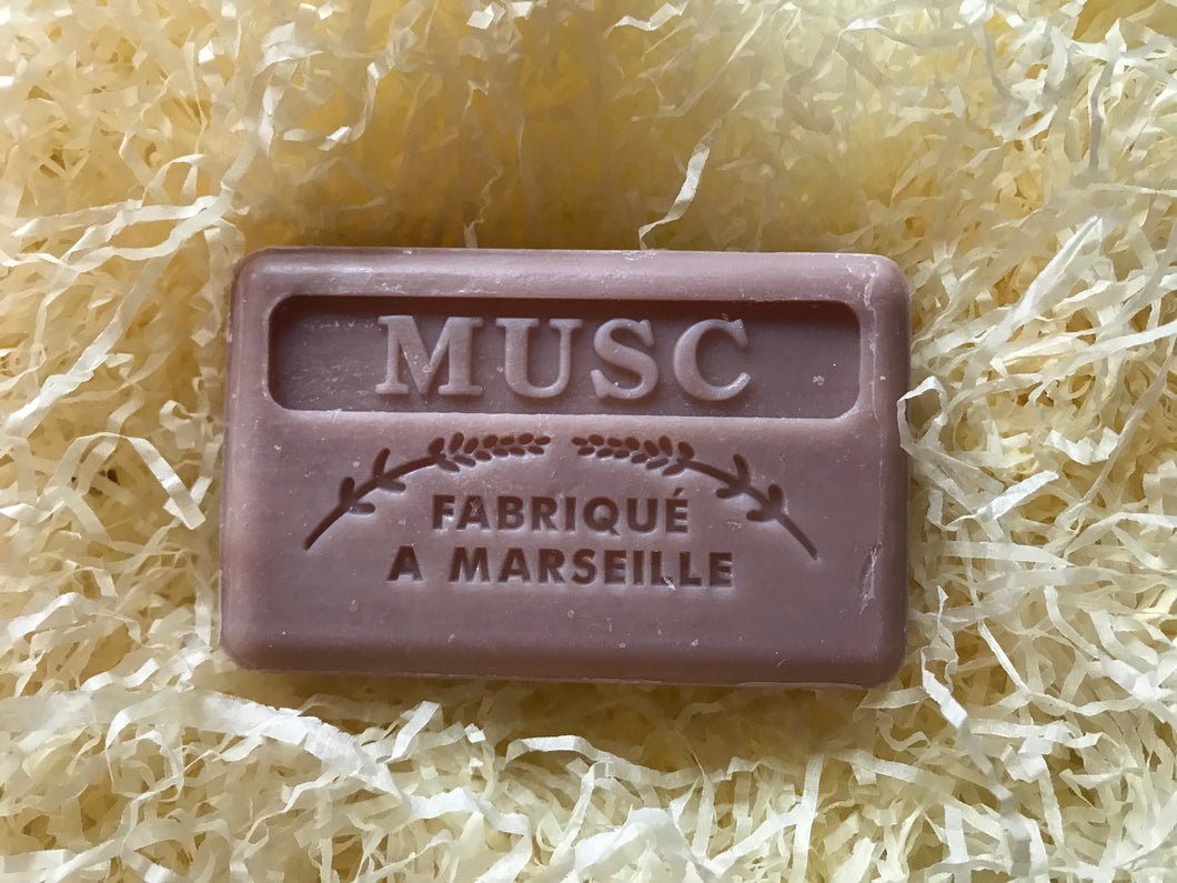 125G Savon De Marseille  Musk French Soap Bar