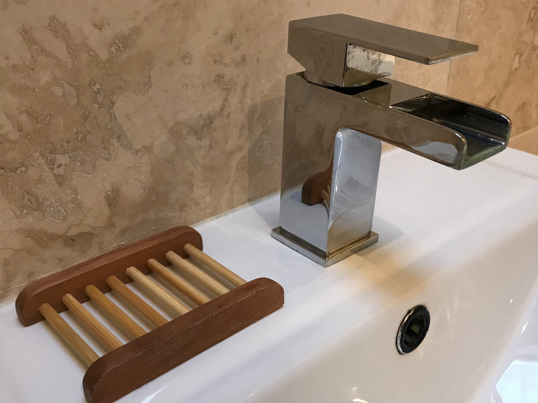 wood ladder soap dish bamboo
