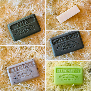 mens soap french with solid shampoo bar and four soaps