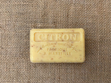 Load image into Gallery viewer, 125g Savon De Marseille Lemon Exfoliating Soap