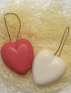 Red French Soap on a rope  Heart
