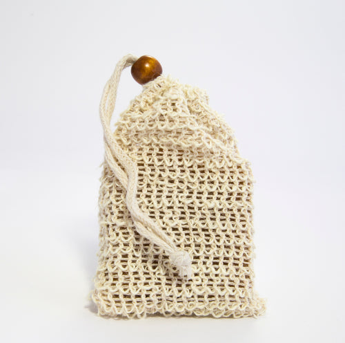 Sisal bag for soap soap saver exfoliating rope