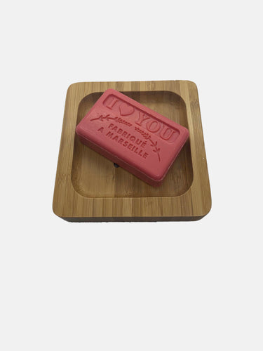 premium square soap dish with I love you soap valentines gift set