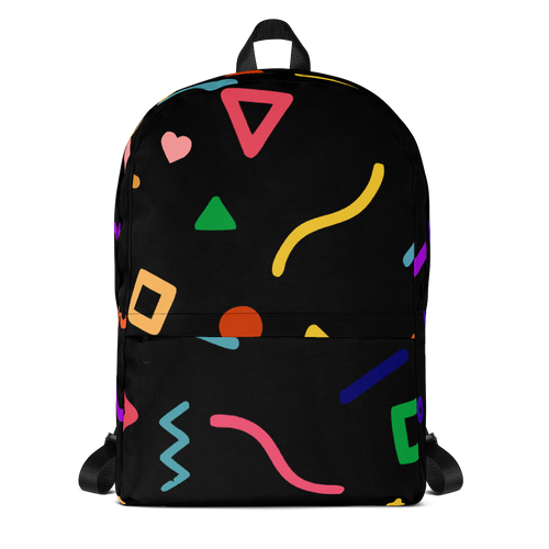 Joyful Backpack- Coloured on Black