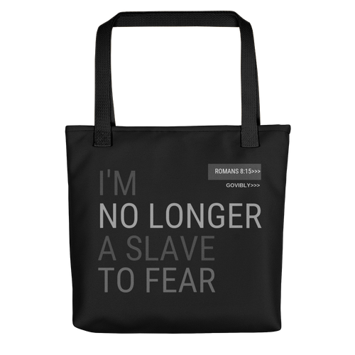 No Longer A Slave To Fear Govibly Tote bag
