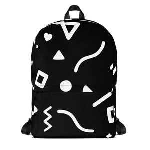 Joyful Backpack - White on Black