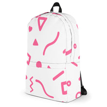 Joyful Backpack - Pink on White