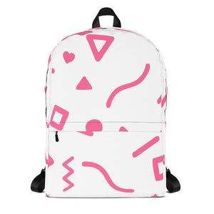 Random Yet Joyful Backpack - Pink
