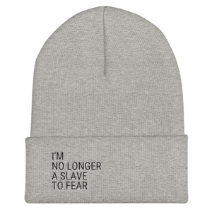 No Longer A Slave To Fear Govibly Cuffed Beanie Headwarmer