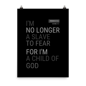 No Longer A Slave To Fear Govibly Poster