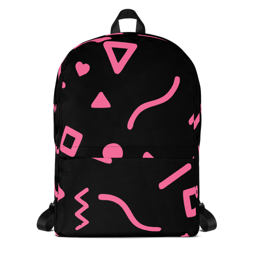 Joyful Backpack - Pink on Black