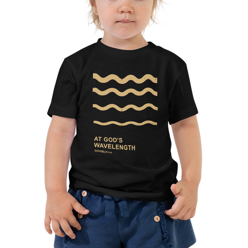 At God's Wavelength Toddler Tee