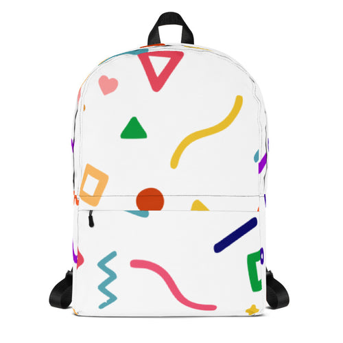 Random Yet Joyful Backpack Coloured