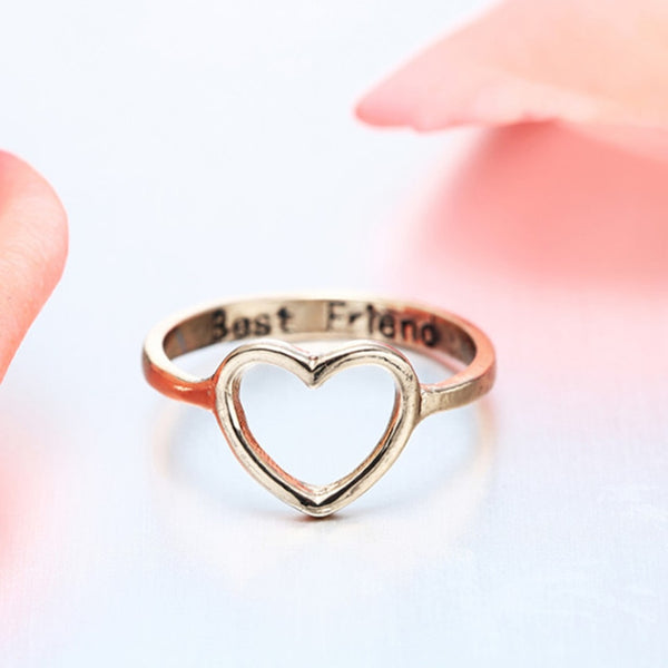 Best Friends Heart Ring
