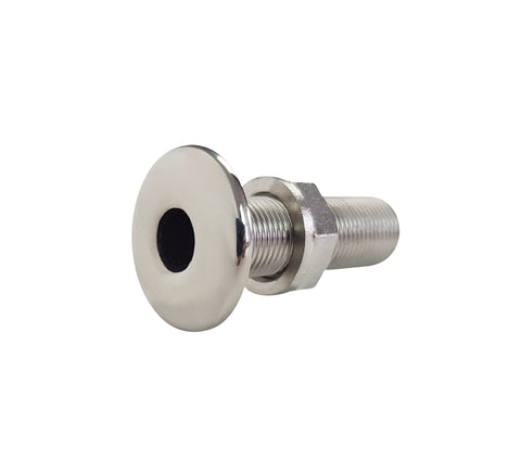 Through Hull Outlet 316 Stainless Steel 1""