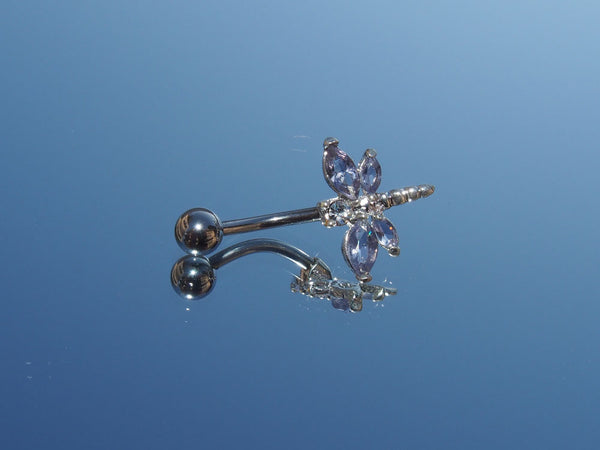 Surgical Steel Gemmed Dragonfly Belly Ring