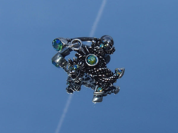 Surgical Steel Tribal Dragon Belly Ring