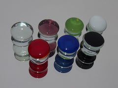Double Flare Color Front Glass Plugs