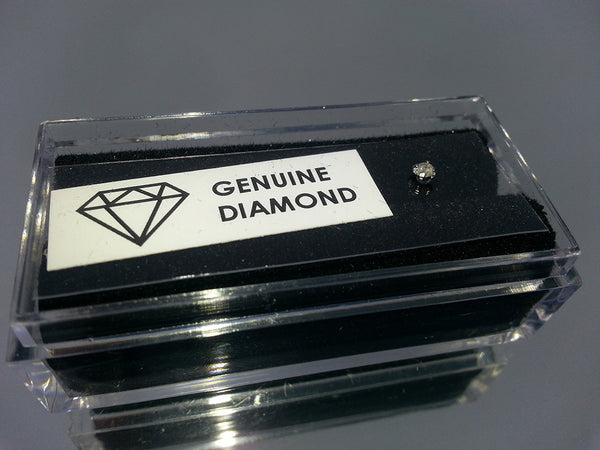 Genuine Diamond Surgical Steel Nose L Bend