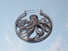 Surgical Steel Octopus Plug Hoop