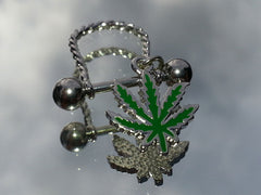 Pot Leaf Nipple Jewelry