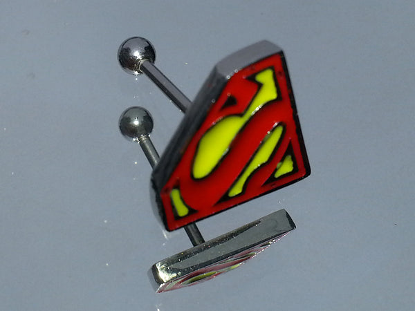 Superman Logo Surgical Steel Cartilage Earring