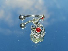 Surgical Steel Medieval Crest Belly Ring