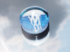 Jellyfish Foil Glass Plug
