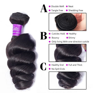 Brazilian Loose Waves 3 Bundles - faveux-fashion