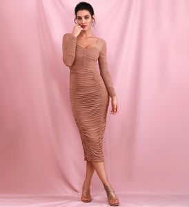 """ Cannot live within""Nude Dress"