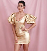 "Load image into Gallery viewer, ""Born to Die"" Gold Dress"