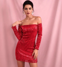 "Load image into Gallery viewer, ""Anytime"" Red Dress"