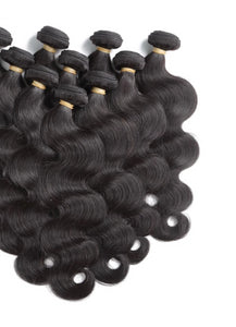 Brazilian 10Pcs Lot Virgin Body Wave Human Hair - faveux-fashion