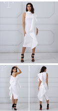 Load image into Gallery viewer, Patchwork Ruffles Bodycon Dresses - faveux-fashion