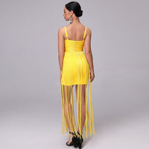 Tassels Fringe Bandage Dress - faveux-fashion