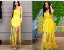 Load image into Gallery viewer, Tassels Fringe Bandage Dress - faveux-fashion