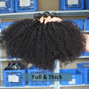 Kinky Afro Curly Raw Virgin Human Hair Bundles - faveux-fashion