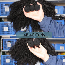 Load image into Gallery viewer, Kinky Afro Curly Raw Virgin Human Hair Bundles - faveux-fashion