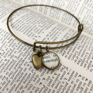 Enough Charm Bracelet with Sweetheart Charm
