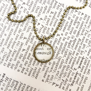 Enough Vintage Dictionary handmade petite charm necklace by the Compton co.