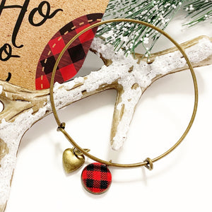 Buffalo Plaid Charm Bracelet