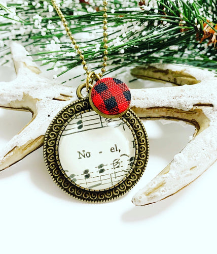 Noel Vintage Hymnal Necklace