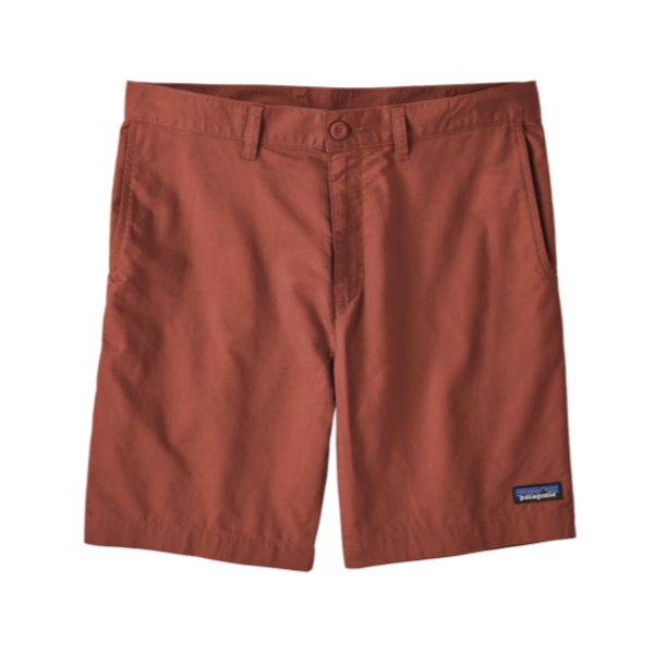 Men's Light Weight All-Wear Hemp Shorts - 8 In - Spanish Red