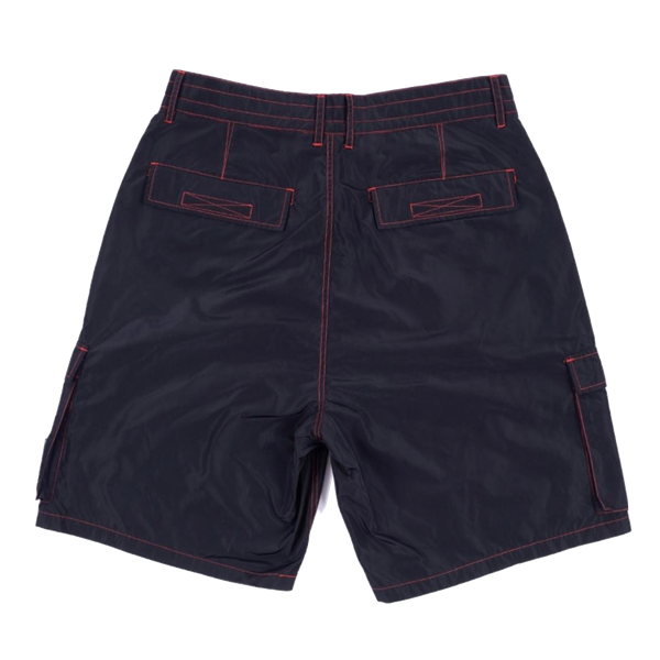 STATIC NYLON CARGO SHORTS BLACK